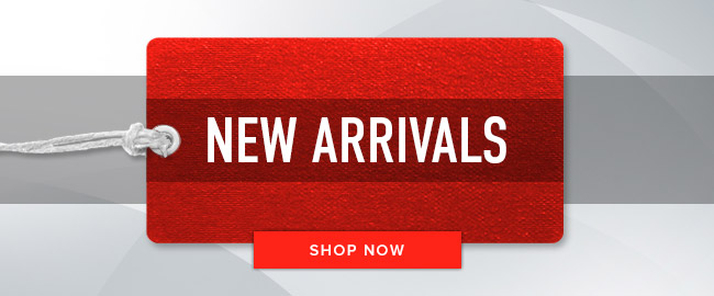 Picture of a sales tag. New Arrivals. Click to shop now.