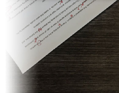 Picture of marked paper